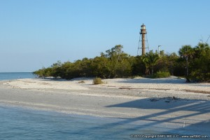 The historic Sanibel Lighthouse is just minutes away from Sandalfoot Beachfront Condominium.