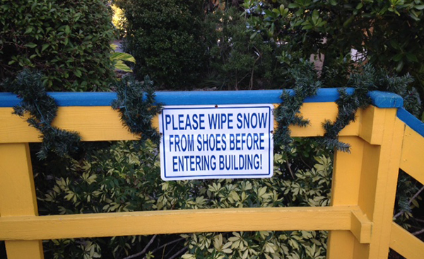 Sanibel Snow Humor