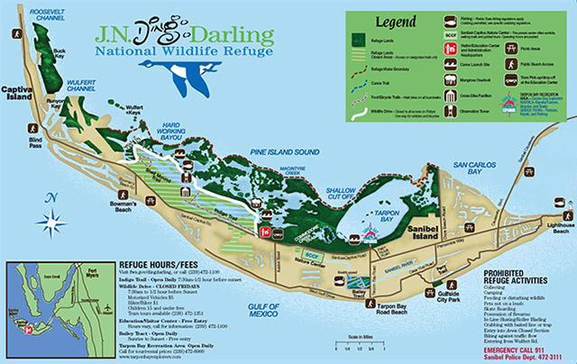 Ding Darling Wildlife Refuge Map