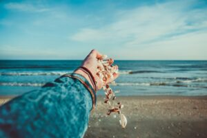 shells falling out of hand