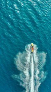 overhead view of jet ski