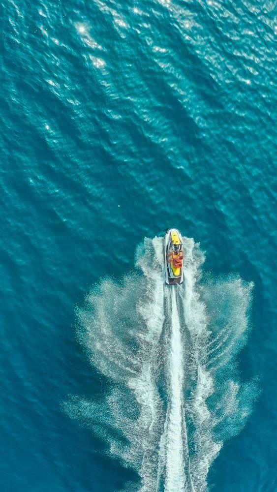 jet ski on ocean