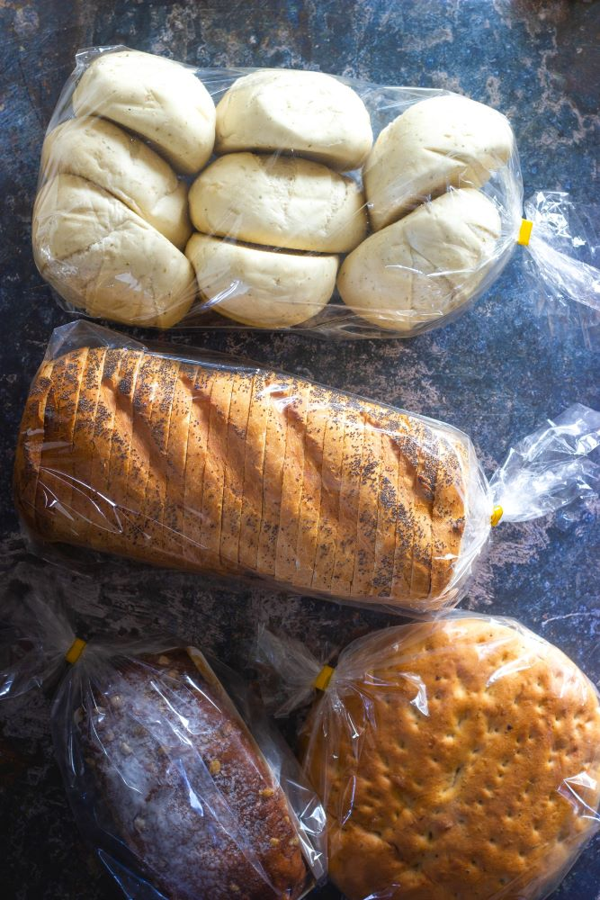 bread wrapped in plastic from Sanibel Island grocery store